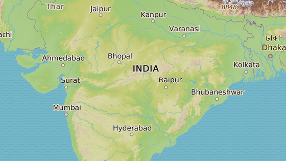 Stát Urísa se nachází na východě Indie
