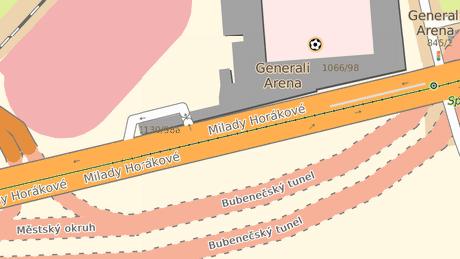V těchto místech, poblíž stadionu fotbalové Sparty, by měli dostat lidé novou možnost zaparkovat.