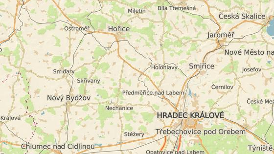 Přibližné místo tragické nehody u Černožic