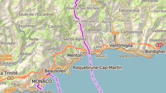 Ventimiglia se nachází na dohled hranicím s Francií