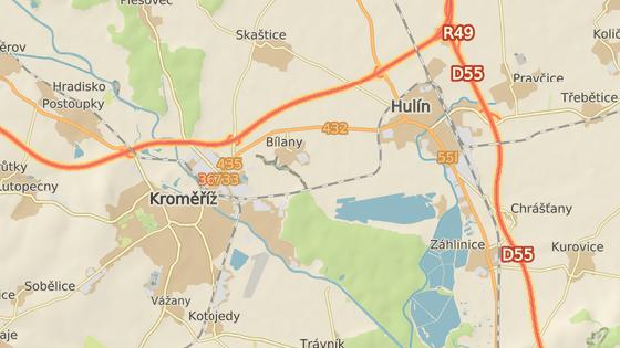 Rychlostí jako na vedlejší dálnici často dosahují řidiči na cestě z Hulína do Kroměříže.