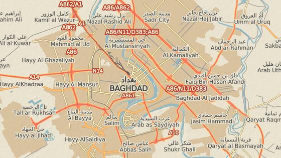Místa, kde došlo k vražedným útokům v Bagdádu