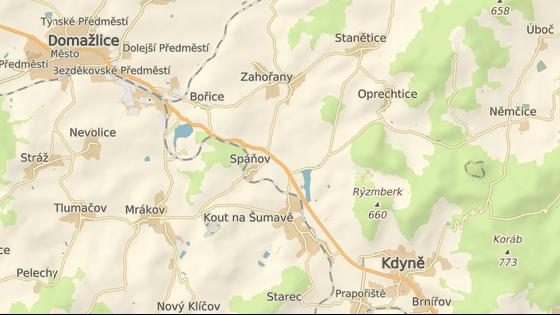 Mladá řidička havarovala poblíž obce Spáňov na silnici mezi Kdyní a Domažlicemi.