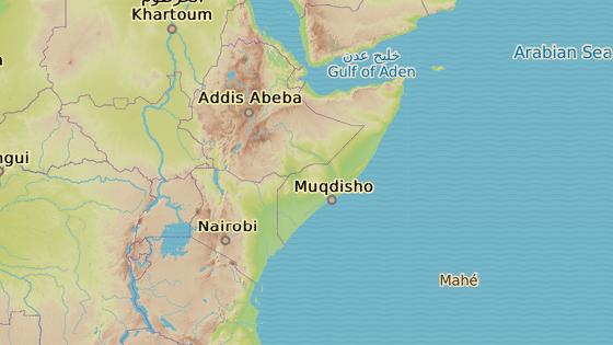 Somálsko (červená značka) Seychely (modrá značka)