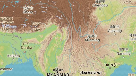 Oblast v Barmě, kde žijí Rohingové