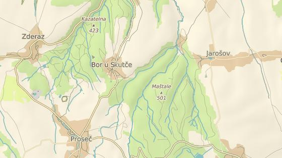 Bor u Skutče leží přímo v přírodní rezervaci Toulovcovy maštale nedaleko Proseče.