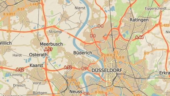Místo požáru v Düsseldorfu