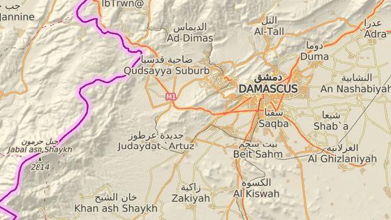 Čtvrť Sajída Zejnab na jihu Damašku, kde k útokům došlo.