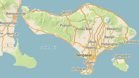 Sesuv se odehrál v severní části ostrova nedaleko turisticky oblíbené sopky Batur