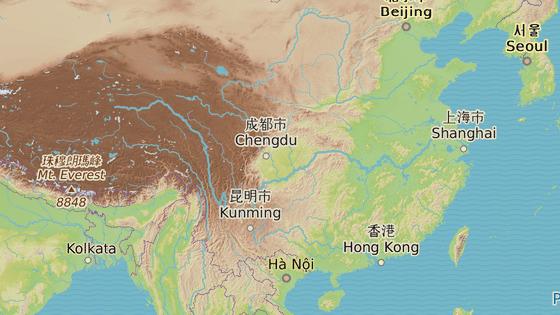 Ta-jing se nachází v provincii S'-čchuan