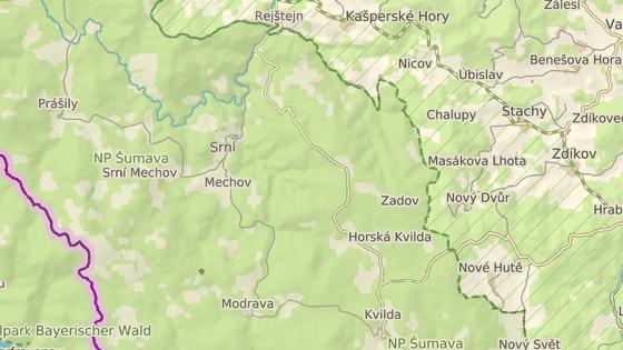 Osada Zhůří bývala poblíž Horské Kvildy.