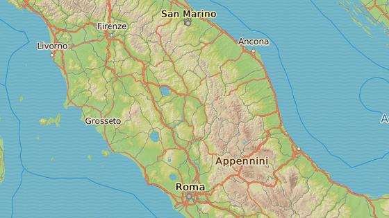 Nejbl�e ot�es�m bylo m�sto Norcia v provincii Perugia.