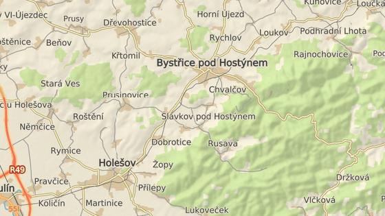 Nehoda se stala na silnici mezi Holešovem a Bystřicí pod Hostýnem u obce Bílavsko.