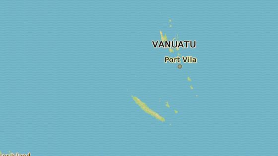 Ostrov Tanna, kde vesnice Younanen leží.