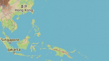 Marshallovy ostrovy se nacházejí přibližně 3000 kilometrů severovýchodně od Papuy-Nové Guineje.