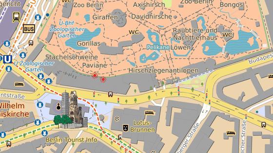 Budova Europa-Center se nachází nedaleko Berlínské zoo
