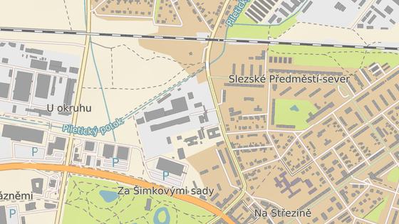 Lokalita, v níž chce Globus postavit svou hradeckou prodejnu.