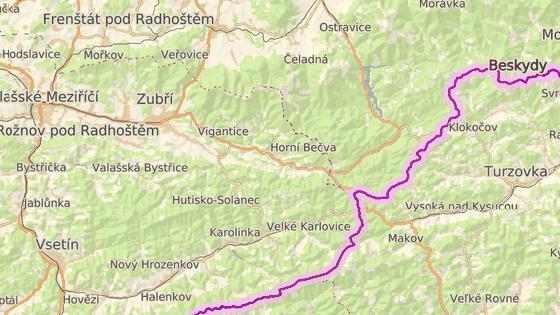 Plošina se převrátila v Horní Bečvě na Vsetínsku.