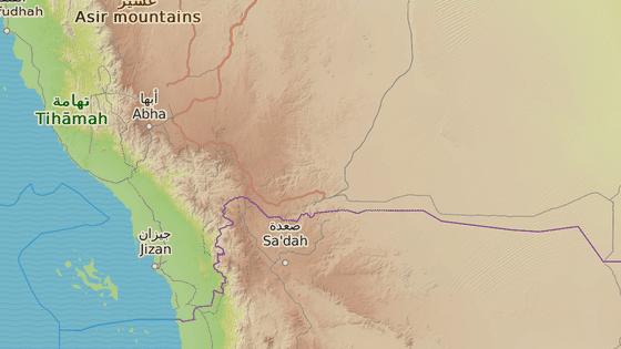 Město Džázán (Jizan) u hranic s Jemenem.