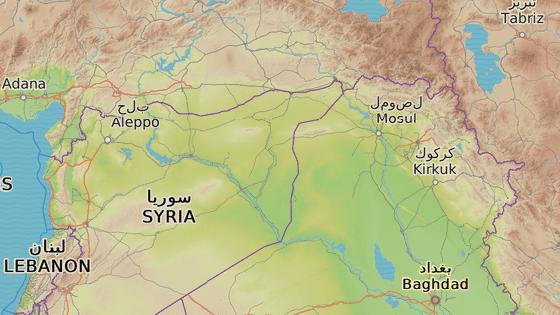 České rozbušky se našly v iráckém Kirkúku a syrském Kobani (červené značky). Modrý symbol značí oblast zvanou Avdoké nedaleko Kobani, kde Kurdové zabavili teroristům českou munici.
