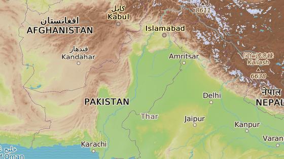 Město Čarsada v severozápadní části Pakistánu