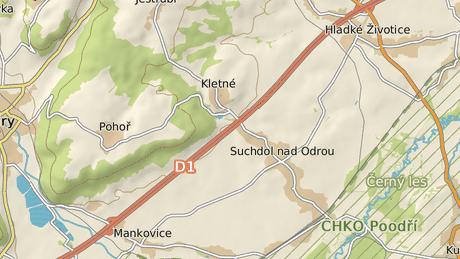 D1 byla mezi Mankovicemi a Hladkými Životicemí uzavřená