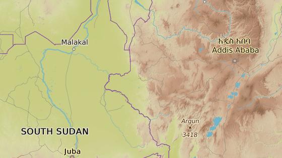 Hlavní město regionu Gambela na východě Etiopie