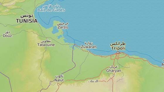Město Binkárdán leží poblíž hranic s Libyí