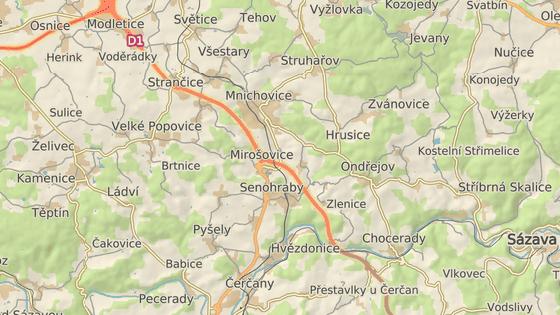 Dálnice D1 u Mirošovic
