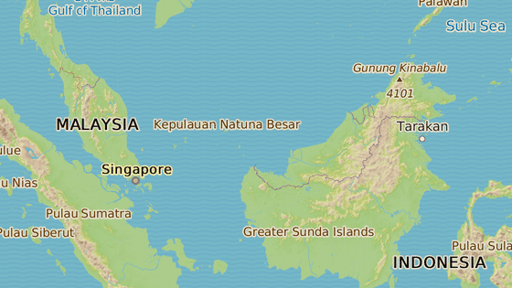 Vlevo Kuala Lumpur, vpravo stát Sabah