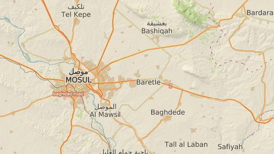 Bartella se nachází na dohled Mosulu