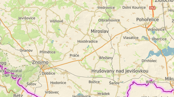 Místo tragické nehody u Mackovic na Znojemsku.