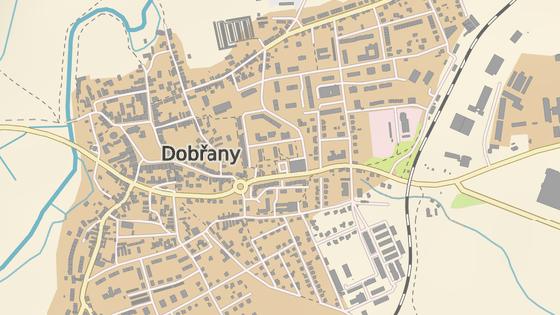Přibližné místo nehody v Dobřanech