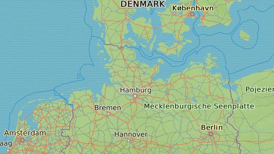 Obec Kronshagen na severu Německa