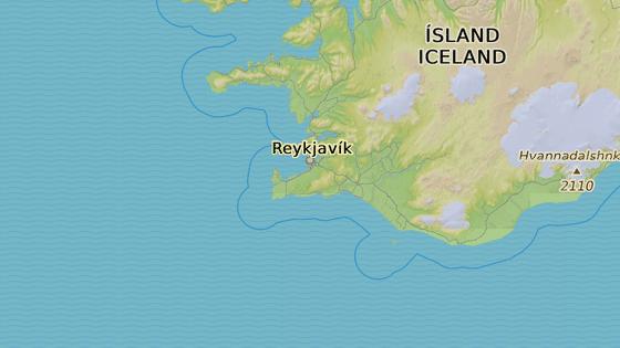 Hafnarfjordur, kde kotvila rybářská loď