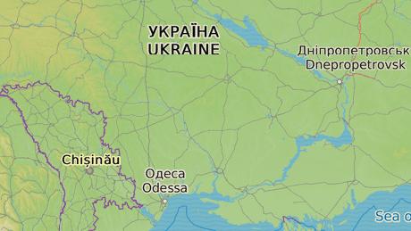 Hlavní město Gagauzska, Comrat (vlevo). Oděsa (vpravo) je co by kamenem dohodil.