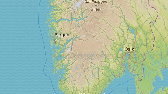 Hardangervidda, Norsko