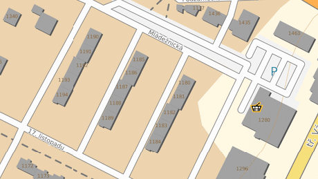 Komplex tří panelových domů, který se město Mladá Boleslav rozhodlo revitalizovat.