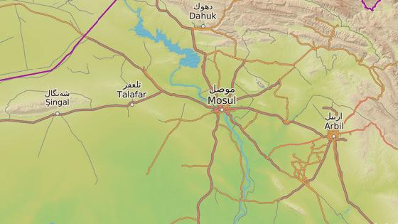 Město Tal Afar, kde dívku drželi