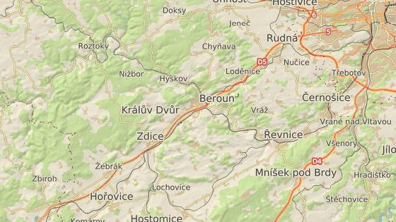 Nehoda se stala ve zúžení na 28. kilometru dálnice D5 u Bavoryně na Berounsku.