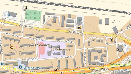 Kolize se stala v ulici Kolbenova.