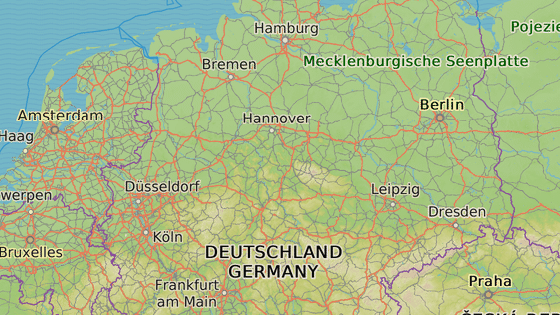 Hamburk (červená), Dortmund (modrá), Suhl (šedá), Šmalkaldy (hnědá), Weimar (azurová), Hildburghausen (zelená), Jena (růžová), Leinefelde (žlutá)