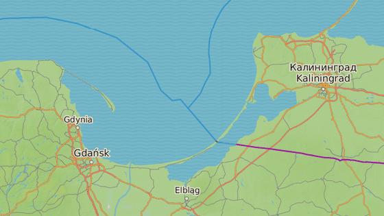 Gdaňský záliv v Baltském moři