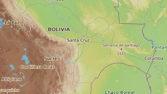 Vojenská škola proti imperialismu se nachází ve městě Warnes v centrální Bolívii.