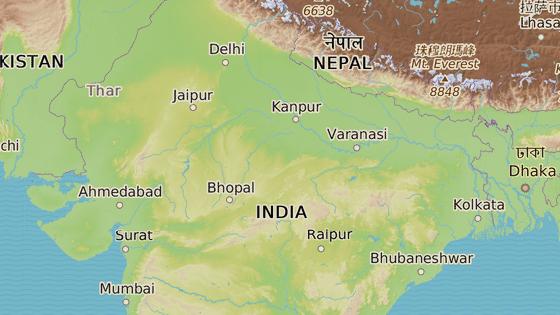 Madhjapradéš  se nachází v centrální Indii