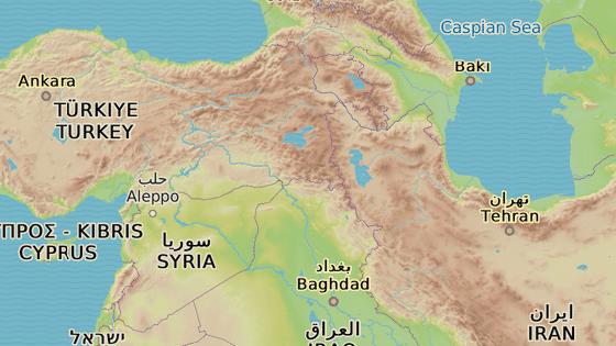 Město Van ležící asi hodinu cesty od hranic Turecka a Íránu