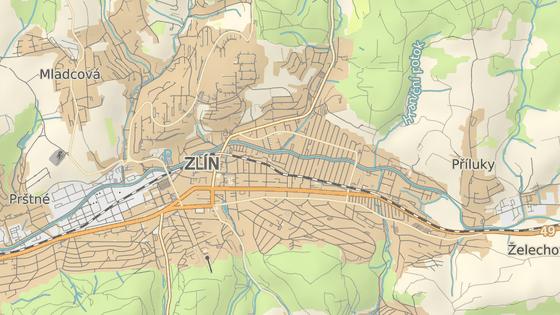 Nehoda se stala ve Zlíně na ulici 2. května poblíž křižovatky s ulicí Zálešná V.