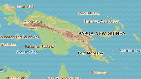 Zemětřesení zasáhlo severovýchodní provincii Papuy-Nové Guineje Nové Irsko.