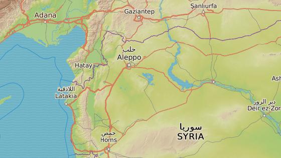 Dábik leží asi 40 kilometrů severovýchodně od Aleppa u hranic s Tureckem.
