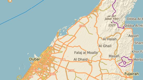 Místo, kde stojí Ajman One Towers ve Spojených arabských emirátech